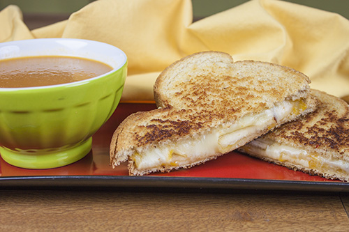 Habanero Grilled Cheese with Jalapeno-Tomato Soup Recipes
