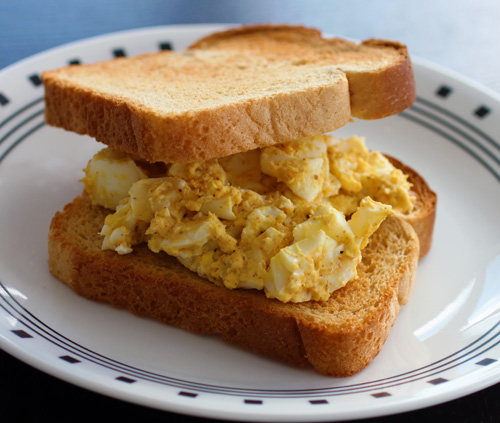 Incendiary Egg Salad Sandwiches