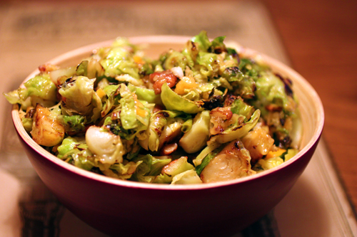 Golly Hot Gouda with Brussels Sprouts and Habanero Peppers Recipe